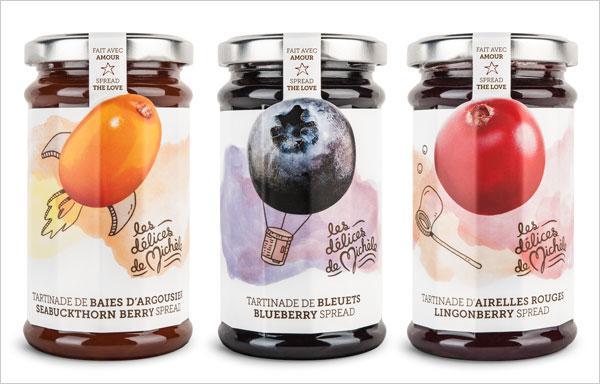 果酱罐头包装设计制作欣赏