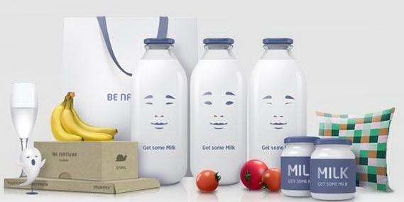 国外牛奶包装盒设计制作