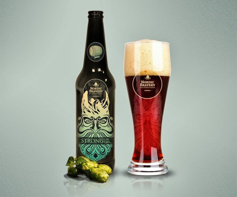 nordic啤酒包装设计制作