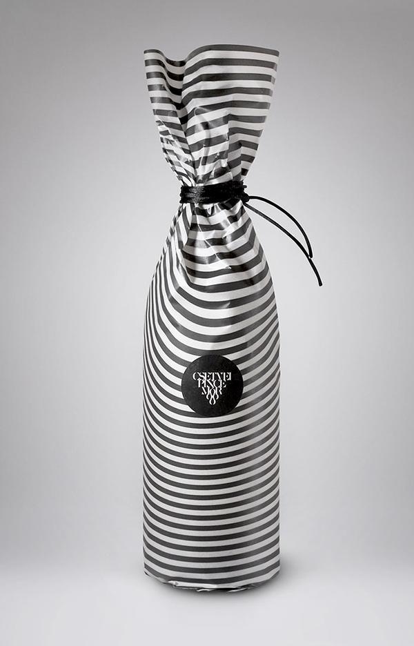 酒盒包装设计印刷 黑黑酒包装设计制作 黑白相间的酒瓶设计制作